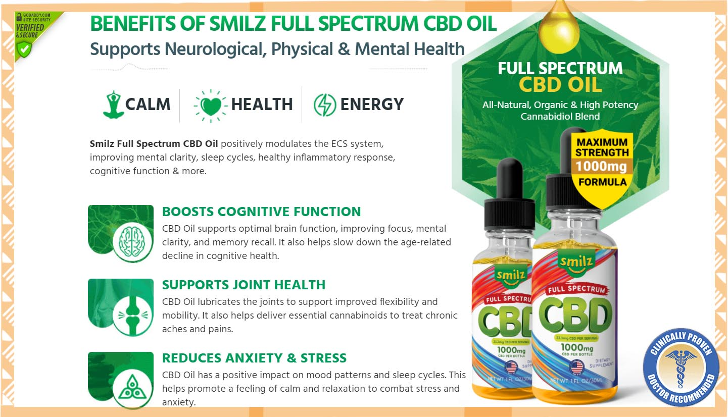 Smilz Full Spectrum CBD Oil2