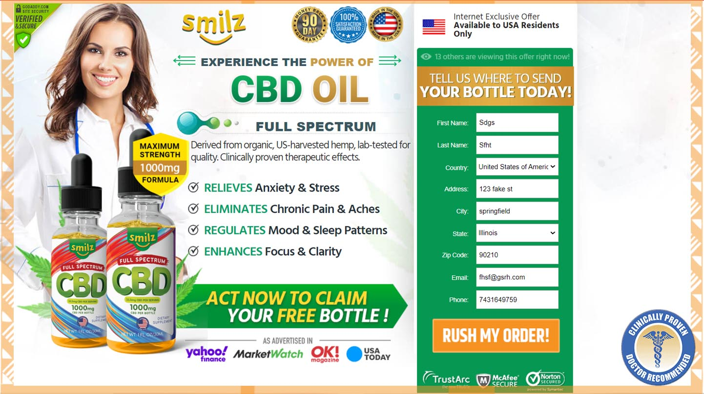 Smilz Full Spectrum CBD Oil234
